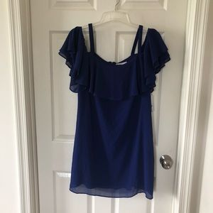 Jessica H off the shoulder purple dress H